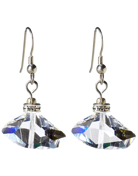Wedding Clear Swarovski crystal earings Australian made jewellery 750